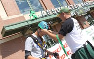 Tanner Rappels Down Lambeau for Special Olympics 10