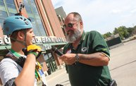 Tanner Rappels Down Lambeau for Special Olympics 9
