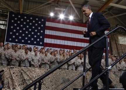 U.S. President Barack Obama walks out after speaking at Marine Corps Base-Camp Pendleton in California, August 7, 2013. REUTERS/Larry Downin