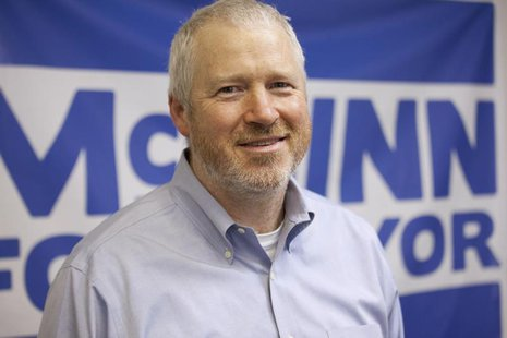 Seattle's Mayor Mike McGinn poses for a portrait at his campaign headquarters in Seattle, Washington August 6, 2013. REUTERS/David Ryder