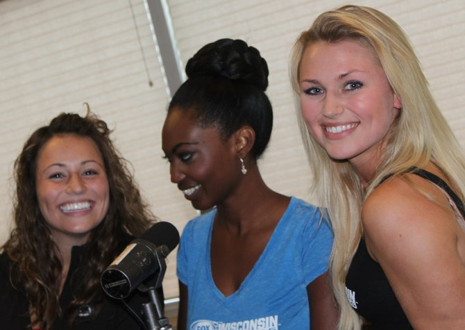 Left to right:  Sage, Bishara, and Chyna, The FOX Sports Wisconsin Girls