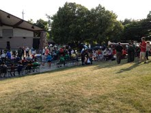 People gather for National Night Out