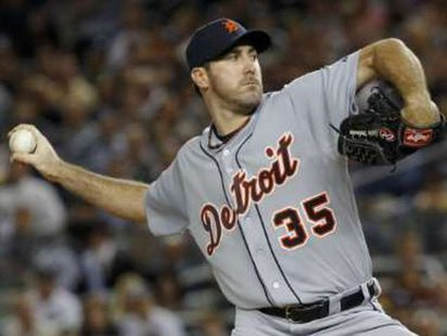 Detroit Tigers RHP Justin Verlander REUTERS/Mike Segar