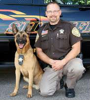 Baco & Deputy Daniel Wachowiak from the Portage County Sheriff's Department