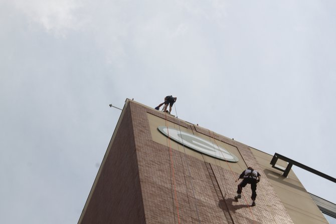 The Ultimate Lambeau Leap - Rappelling Lambeau Field for Special Olympics