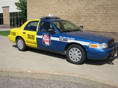 "Wisconsin State Patrol's ""Choose Your Ride"" vehicle, used to help educate people about impaired driving."