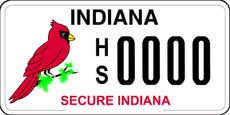 secure Indiana plate