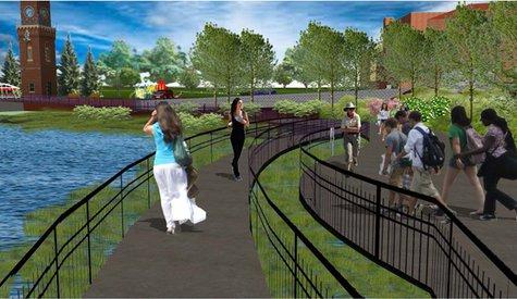 Allegan Riverfront rendering