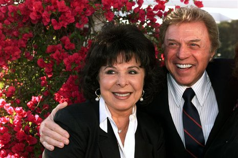 "Singers Steve Lawrence and Edyie Gorme pose as they arrive at "" An Evening with Larry Gelbart"" at The Museum of Television & Radio in Beverl"