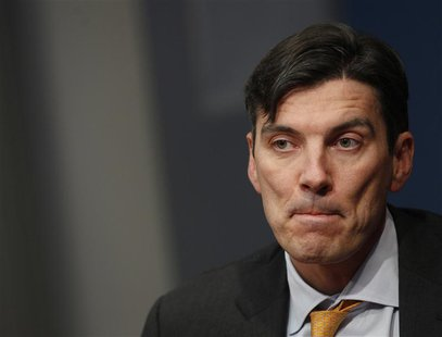 AOL chairman and Chief Executive Officer Tim Armstrong speaks at the Reuters Global Media Summit in New York November 28, 2011. REUTERS/Bren