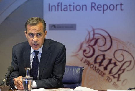 Bank of England governor Mark Carney leads the bank's quarterly inflation report news conference at the Bank of England in London August 7,