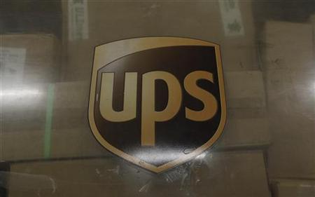 The emblem of of United Parcel Service (UPS). REUTERS/Ina Fassbender