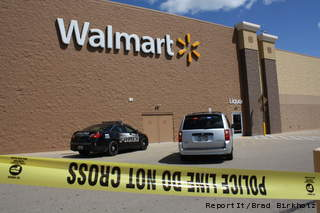 A shooting at Walmart in Neenah sends one woman to the hospital. (Photo courtesy of Fox 11 WLUK-TV)
