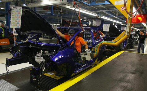 General view of the assembly line of the new Ford Fiesta in Cologne, February 4, 2013. REUTERS/Wolfgang Rattay