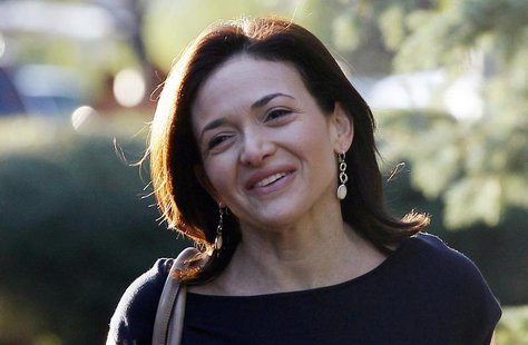 Facebook COO Sheryl Sandberg arrives for the first session of the annual Allen and Co. conference at the Sun Valley, Idaho Resort July 10, 2