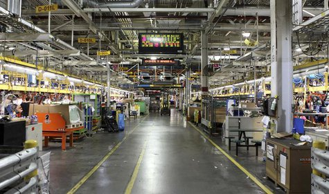 A general view of Chevrolet Cruze car assembly line at the General Motors assembly plant in Lordstown, Ohio July 22, 2011. REUTERS/Aaron Jos