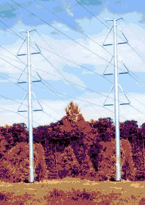 "This is what the ""mono-pole"" towers will look like."