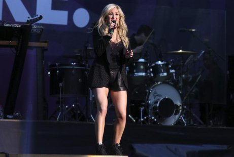 "Singer Ellie Goulding performs at ""The Sound of Change"" concert at Twickenham Stadium in London June 1, 2013. REUTERS/Neil Hall"