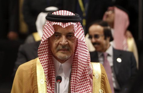 Saudi Arabia's Foreign Minister Prince Saud al-Faisal attends the opening of an Arab League meeting in Cairo March 6, 2013. REUTERS/Mohamed