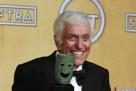 Actor Dick Van Dyke Life holds his award backstage after recieving the life achievement award at the 19th annual Screen Actors Guild Awards