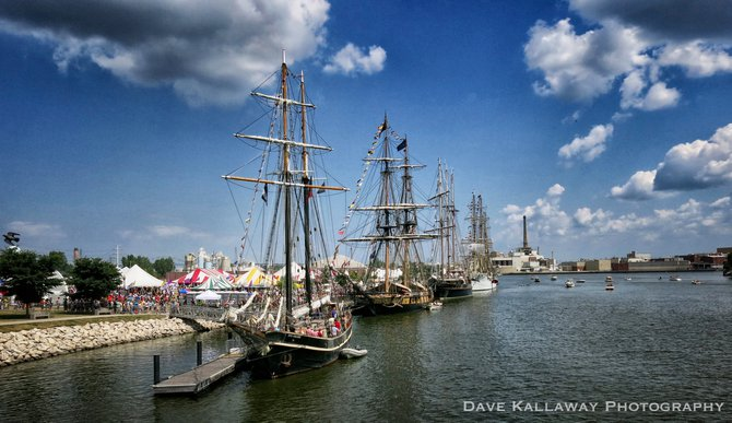 A beautiful day to see the Tall Ships..docked in Green Bay for the weekend!!