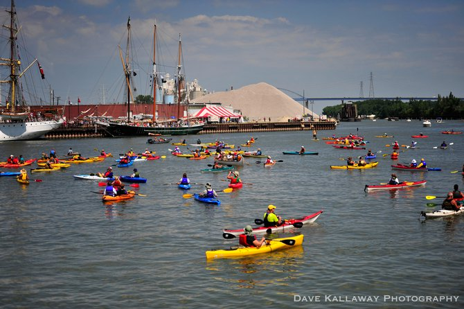 Really couldn't beat the weather..kayaks to Tall Ships ruled the river in Green Bay this weekend!