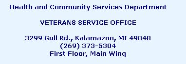 The Kalamazoo County Veterans Services Office