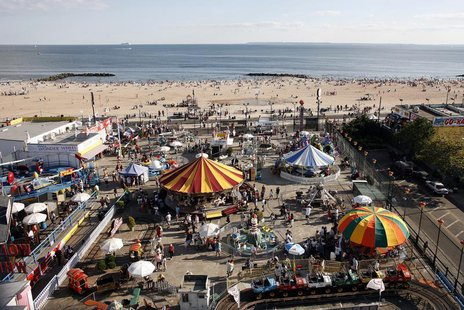 With the Labor Day weekend being the unofficial end of summer, people went to the Coney Island amusement park to enjoy the great weather and
