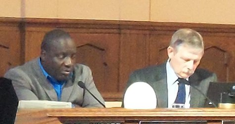 Mayor Hopewell and City Attorney Robinson  Monday Night's meeting didn't conclude until nearly midnight.