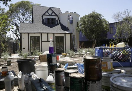 A Tudor-style home is being renovated for resale in the Silver Lake neighborhood of Los Angeles, California August 5, 2013. REUTERS/Jason Re