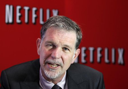 Netflix's Chief Executive Officer Reed Hastings speaks during an interview with Reuters in Buenos Aires September 7, 2011. REUTERS/Enrique M