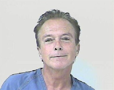 Entertainer David Cassidy is shown after his arrest in St. Lucie County, Florida November 3, 2010 in this handout photo released to Reuters