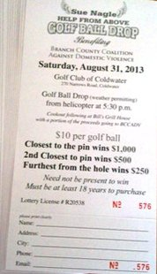 Golf Ball Drop ticket