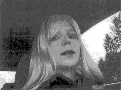 U.S. Army Private First Class Bradley Manning, the U.S. soldier convicted of giving classified state documents to WikiLeaks, is pictured dre