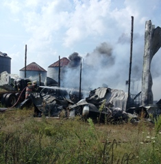 Gilead Township barn fire 8-21-13