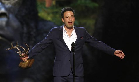 "Actor and director Ben Affleck accepts the Guy of the Year award at the seventh annual Spike TV's ""Guys Choice"" awards in Culver City, Calif"