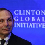 Bob McDonald, then-CEO of Procter & Gamble, looks on during a water purification event at the Clinton Global Initiative in New York, in this