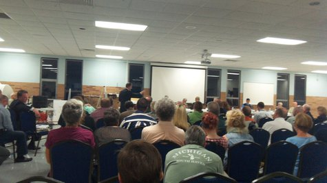 Its probably the biggest crowd the Comstock Planning Commission has had at one of its meetings in some time.