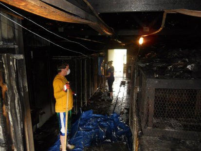 Lawrence Co Animal Shelter After Fire pic 4 provided by shelter facebook page
