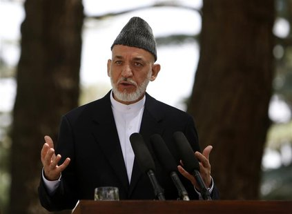 Afghan President Hamid Karzai speaks during a news conference in Kabul August 24, 2013. REUTERS/Mohammad Ismail