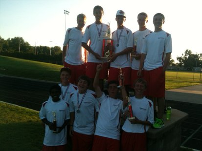 The 2013 Coldwater Cardinal varsity boys tennis team