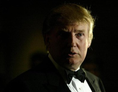 Billionaire Donald Trump arrives at the Miss USA 2004 competition at the Kodak Theatre in Hollywood, California April 12, 2004. REUTERS/Robe