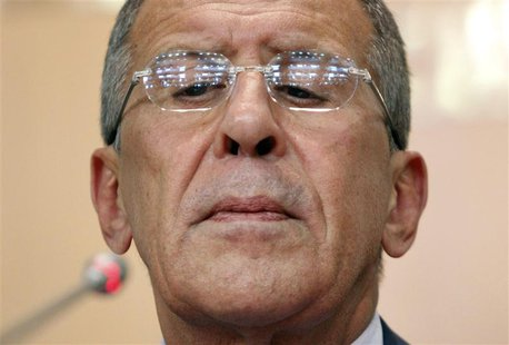 Russia's Foreign Minister Sergei Lavrov holds a news conference in Moscow August 26, 2013. REUTERS/Maxim Shemetov