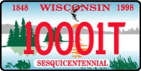 Wisconsin Sesquicentennial License Plate (Photo by: Wisconsin DOT).