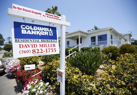 A single family home is shown for sale in Encinitas, California May 22, 2013.REUTERS/Mike Blake