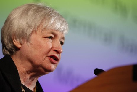 Janet Yellen, vice chair of the Board of Governors of the U.S. Federal Reserve System, speaks at the University of California Berkeley Haas