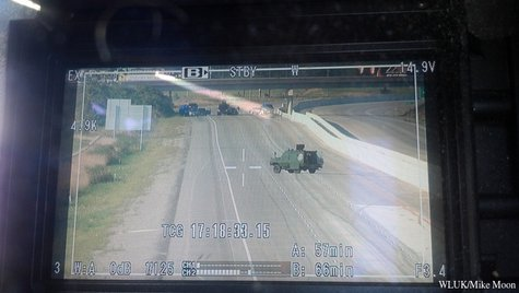 View from a Fox 11 video camera truck.   (Photo courtesy of Fox 11 WLUK-TV)