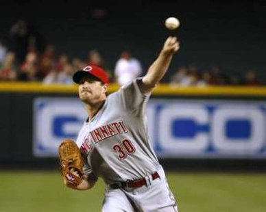 Chicago Cubs LHP Travis Wood during his days with the Cincinnati Reds REUTERS/Rick Scuteri