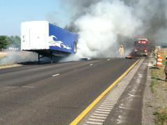 I-70 trailer fire