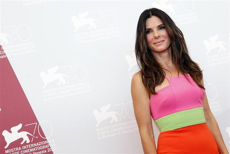 U.S. actress Sandra Bullock poses during a photocall at the 70th Venice Film Festival in Venice August 28, 2013. REUTERS/Alessandro Bianchi